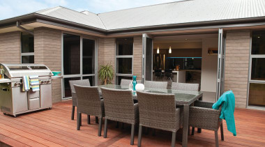 This unique range captures the essence of modern deck, outdoor structure, patio, property, real estate, black
