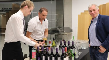 10 May 2018, at the Giltrap Group Building alcoholic beverage, distilled beverage, drink, liqueur, service, wine, black, gray, white