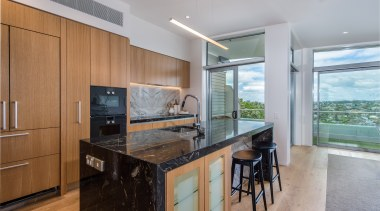Kitchen featuring Gaggenau appliances and marble benchtops countertop, home, interior design, kitchen, real estate, gray