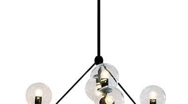 FeaturesThe Brockton is an eye-catching pendant design that ceiling fixture, chandelier, light fixture, lighting, white