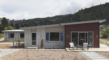 For more information, please visit www.gjgardner.co.nz cottage, elevation, facade, home, house, landscape, property, real estate, white, black
