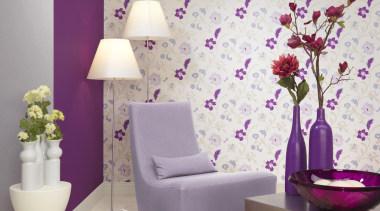 Italian Color Range decor, interior design, lilac, living room, purple, wall, wallpaper, white, gray