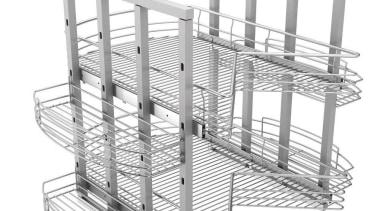 Giamo Jumbo Magic Lazy Susan Unit For Corner line, product, structure, white