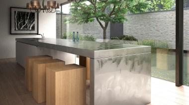 Spica from La Crue, Spain countertop, floor, flooring, furniture, interior design, product design, table, wood, white