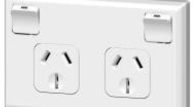 600 Series double horizontal socket White ac power plugs and socket outlets, computer component, electronics accessory, technology, white