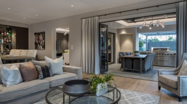 New Albany Show Home interior design, living room, property, real estate, room, gray