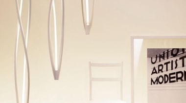 Body: Manufactured through a technology of torsion and furniture, interior design, lamp, light fixture, lighting, product design, table, white