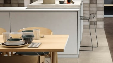 Quayside Brown 100x200 countertop, floor, flooring, furniture, interior design, kitchen, table, gray