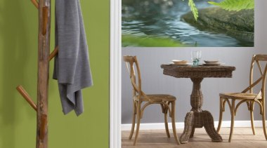 Along The River Interieur floor, flooring, furniture, interior design, lamp, product design, table, wood, brown, green