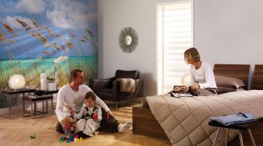 Ocean Breeze Interieur bedroom, floor, flooring, furniture, home, house, interior design, living room, room, window, wood, gray, brown