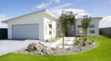 East Tamaki ShowhomeFor more information, please visit www.gjgardner.co.nz architecture, backyard, estate, facade, home, house, property, real estate, yard, white