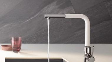 KLUDI L-INE 05 bathroom sink, plumbing fixture, sink, tap, gray, black