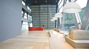 """Hanging OHPS"" from Manamana, Italy architecture, ceiling, daylighting, floor, flooring, interior design, lobby, loft, gray, white"