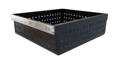 Tanova Ventilated Drawer in Custom Colour Black - plastic, product, product design, white, black