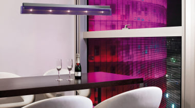 Pendant Light architecture, furniture, interior design, product design, purple, table, wall, gray