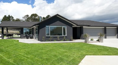 For more information, please visit www.gjgardner.co.nz architecture, cottage, elevation, estate, facade, farmhouse, grass, home, house, landscape, property, real estate, white, green