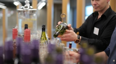 Photos of the 2017 TIDA New Zealand Homes alcohol, alcoholic beverage, champagne, distilled beverage, drink, liqueur, wine, wine tasting, black, gray