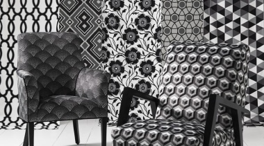 No other colour combination stands the test of black, black and white, chair, couch, design, furniture, interior design, monochrome, monochrome photography, pattern, wall, wallpaper, black, white