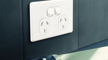 Slimline double socket product, technology, black, gray
