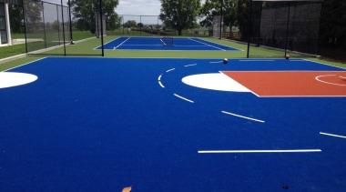Sport artificial turf, asphalt, grass, leisure, line, net, plant, playground, public space, sport venue, sports, structure, blue