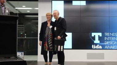 Judy and Andrew Mitchell (Pattersons) fashion, professional, suit, technology, black