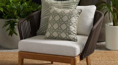 Daintree 3 chair, couch, cushion, furniture, loveseat, outdoor furniture, studio couch, sunlounger, wicker, brown