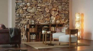 Stone Wall Interieur floor, flooring, furniture, interior design, living room, table, wall, wood, brown, black