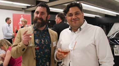 Craig Wilson and Nicholas Dalton from TOA Architects car, event, socialite, gray, black