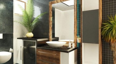 Inspirational gallery bathroom, home, interior design, property, room, black, white