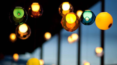 These are low voltage lights; each individual pendant light, lighting, night, yellow, black