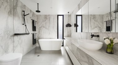 See more from LSA Architects architecture, bathroom, floor, flooring, home, interior design, plumbing fixture, room, tap, tile, gray
