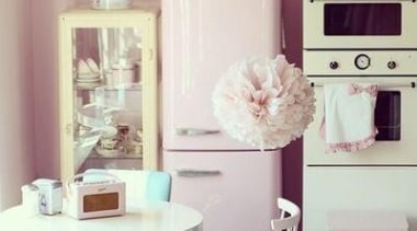 Kitchen Design Ideas by Smeg furniture, home, interior design, pink, product, purple, room, table, gray, white