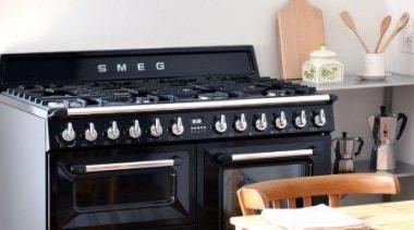 Kitchen Design Ideas by Smeg gas stove, home appliance, kitchen, kitchen appliance, kitchen stove, oven, white, black