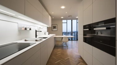 Highly Commended in the Category Imported Kitchen apartment, architecture, cabinetry, countertop, cuisine classique, floor, house, interior design, kitchen, property, real estate, room, gray