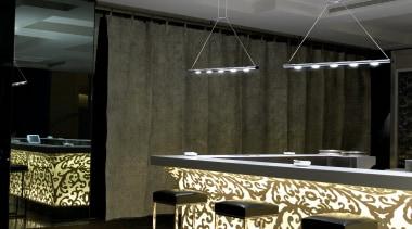 Adagio from Grok, Spain architecture, ceiling, floor, flooring, interior design, light fixture, lighting, lobby, table, black