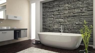 Inspirational gallery bathroom, floor, flooring, home, interior design, product design, room, tap, tile, wall, gray, black