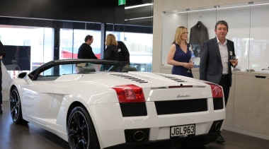 Photos of the 2017 TIDA New Zealand Homes auto show, automotive design, automotive exterior, car, lamborghini, lamborghini gallardo, land vehicle, luxury vehicle, motor vehicle, performance car, personal luxury car, sports car, supercar, vehicle, gray, black