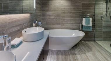 Bathroom architecture, bathroom, bidet, ceramic, floor, flooring, interior design, property, room, sink, tap, tile, gray
