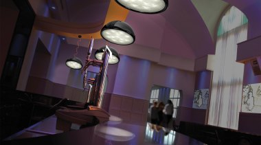 Pendant Light architecture, ceiling, interior design, light, lighting, lobby, purple, room, black, purple