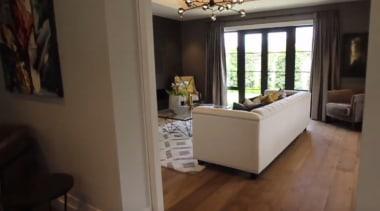 New Albany Show Home floor, flooring, home, interior design, living room, property, real estate, room, black, brown