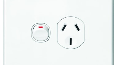 Slimline Series single horizontal socket White ac power plugs and socket outlets, electronic device, technology, white