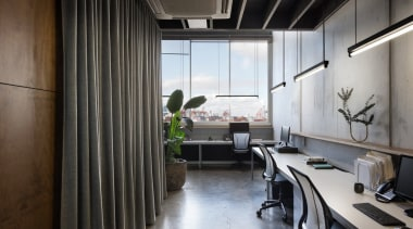 Norton Legal architecture, interior design, office, gray, black