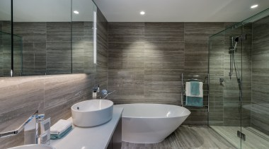 Bath architecture, bathroom, floor, interior design, room, tile, gray, black