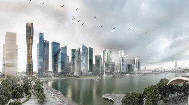 Say goodbye to concrete and steel – this building, city, cityscape, condominium, daytime, metropolis, metropolitan area, reflection, sky, skyline, skyscraper, tower block, urban area, water, white