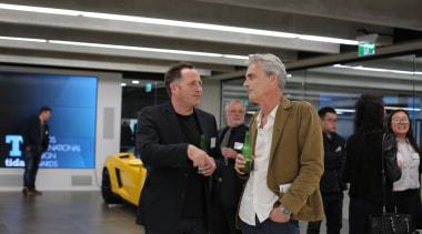 Paul Clarke (Studio2 Architects) and Daniel Marshall (Daniel automotive design, car, electronic device, motor vehicle, technology, vehicle, black, gray