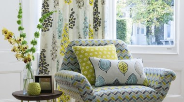 Harrisons Curtains chair, couch, curtain, furniture, home, interior design, living room, table, textile, wall, window, window covering, window treatment, yellow, white, gray