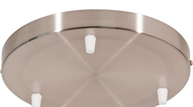 FeaturesThis accessory is a large ceiling pan with lighting, product design, gray