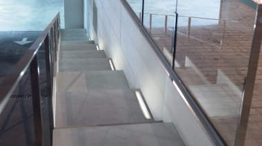 Exterior and Outdoor Lights architecture, daylighting, floor, glass, handrail, stairs, structure, gray