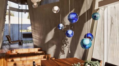 These are low voltage lights; each individual pendant dining room, interior design, table, wood, brown