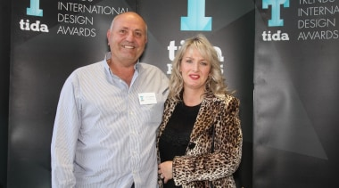 Ron and Carmel Ouwerkerk (QPC Build Group) event, fashion, outerwear, public relations, socialite, black, gray